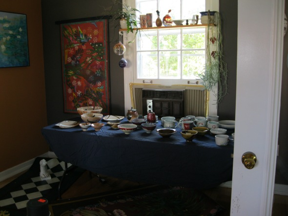 Carol's beautiful Raku pottery...