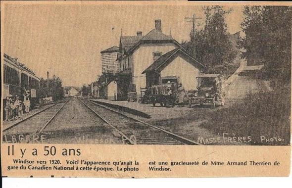 Windsor Mills train station....